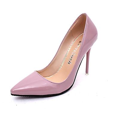 女性用 靴 PUレザー 秋 / 冬 コンフォートシューズ ヒール ローヒール ラウンドトウ グレー / レッド / ピンク