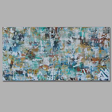 Pintura a Óleo Pintados à mão - Abstrato Estilo Europeu Mediterrêneo Tela de pintura