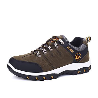 Miehet kengät Mokkanahka Kevät Kesä Syksy Talvi Comfort Urheilukengät Vaellus Käyttötarkoitus Urheilullinen Kausaliteetti Musta Harmaa