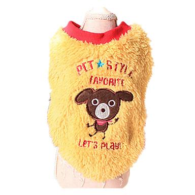 Koira Neulepaidat Koiran vaatteet Pidä Lämmin Eläin Keltainen Sininen Asu Lemmikit