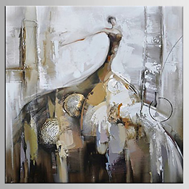 手描きの 人物 方形, クラシック 近代の キャンバス ハング塗装油絵 ホームデコレーション 1枚
