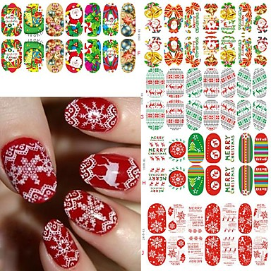 5pcs Nail Art klistremerke 3D Negle Stickers makeup Cosmetic Nail Art Design