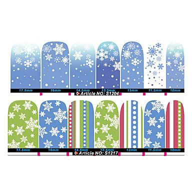 2pcs Nail Art klistremerke 3D Negle Stickers makeup Cosmetic Nail Art Design