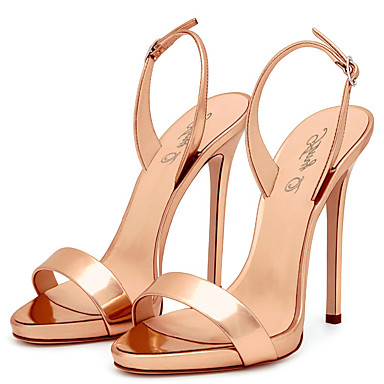 a4e82b132955 Women s PU(Polyurethane) Spring   Summer Slingback Sandals Stiletto Heel  Open Toe Buckle Red   Nude   Champagne   Wedding   Party   Evening   Party    ...