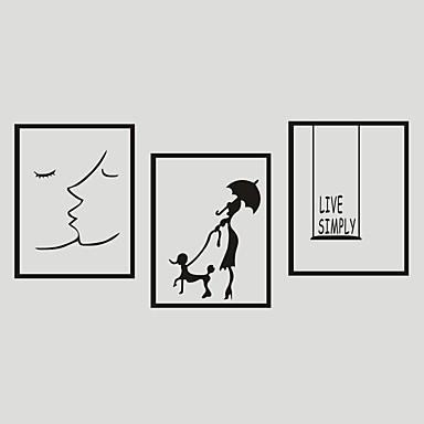 Tegneserie / Ord & Citater / Romantik Wall Stickers Fly vægklistermærker Dekorative Mur Klistermærker,PVC Materiale Kan fjernes Hjem Dekor