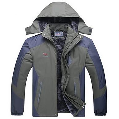 男性用 ハイキング ジャケット 保温 防風 快適 厚型 トップス のために ランニング 冬 秋 L XL XXL XXXL