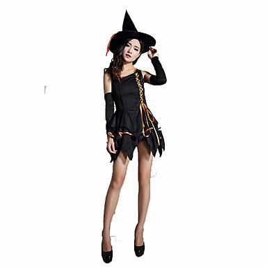 Trollmann/heks Kvinnelig Halloween Jul Karneval Barnas Dag Nytt År Oktoberfest Festival/høytid Halloween-kostymer Ensfarget