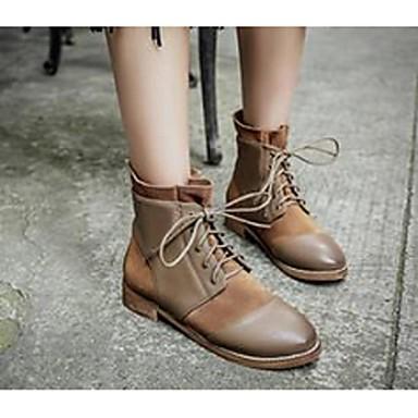 BootsitNaisten-Mokkanahka-Musta / Ruskea-Rento-Comfort