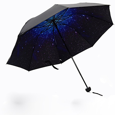 Plástico Homens / Mulheres / Para Meninas Sombrinha Guarda-Chuva Dobrável