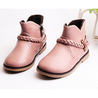 Jente-LærKomfort-Støvler-Fritid-Svart Rosa