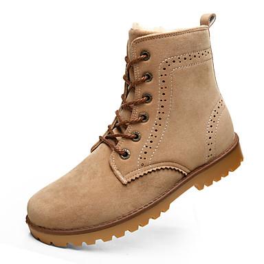 Naiset Kengät Synteettinen Kevät Syksy Talvi Comfort Muotisaappaat Nilkkuri Bootsit Tasapohja Solmittavat Käyttötarkoitus Kausaliteetti