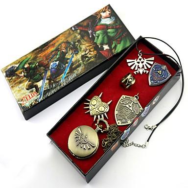 Klokker / Emblem / Mer Tilbehør Inspirert av The Legend of Zelda Link Anime Cosplay-tilbehør Klokker / Halskjeder / Emblem Legering