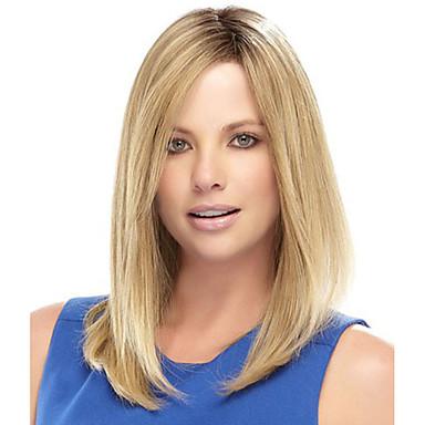 povoljno Perike i ekstenzije-Sintetičke perike Ravan kroj Stil Capless Perika Plavuša Plavuša Sintentička kosa Žene Trump Hair Plavuša Perika / Da
