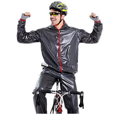 Manica lunga Giacca con pantaloni da ciclismo - Nero / Verde / Blu Bicicletta Set di vestiti Ompermeabile Antivento Inverno Gli sport Tinta unica Ciclismo da montagna Cicismo su strada Abbigliamento