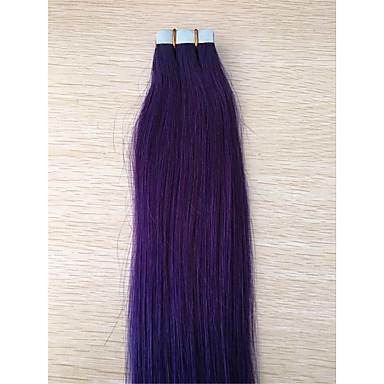 2,5 g / kpl brazilian ombre harmaa nauha hiusten pidennys 1b / harmaa pu ihon kude hiuksista laajentaminen
