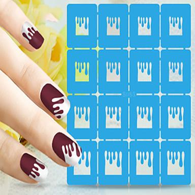 Nail Art matrica Diecut manikűr stencil Körömékszerek Rajzfilm Szeretetreméltő smink Kozmetika Nail Art Design