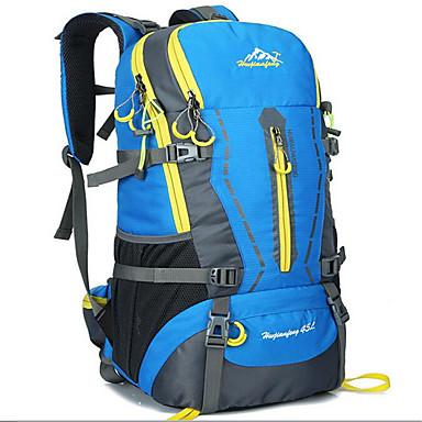 45 L حقائب ظهر - مقاوم للماء, متنفس في الهواء الطلق التخييم والتنزه, التسلق, رياضة وترفيه كنفا أخضر, أسود, برتقالي