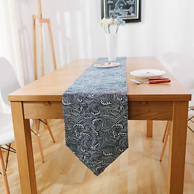 長方形 パターン柄 テーブルランナー , スエード 材料 ホテルのダイニングテーブル 表Dceoration