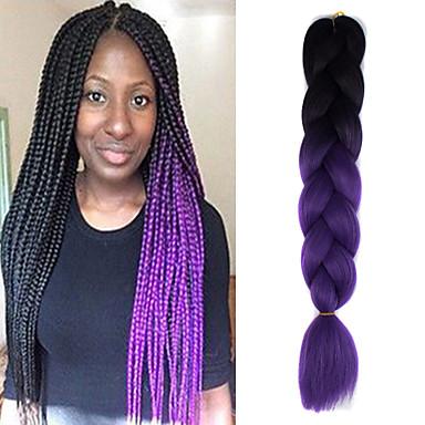 Trenzas crochet Trenzas de colores 100% kanekalon pelo 1 Trenzas Jumbo Trenzas de cabello