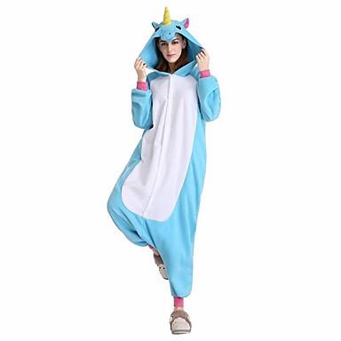 Kigurumi-pyjama Hevonen Unicorn Pyjamahaalarit Asu Velvet Mink Purppura Sininen Pinkki Fuksia Cosplay varten Animal Sleepwear Sarjakuva
