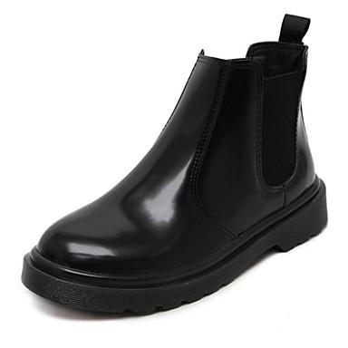 女性-アウトドア-PUレザーOthers-ブーツ-ブラック