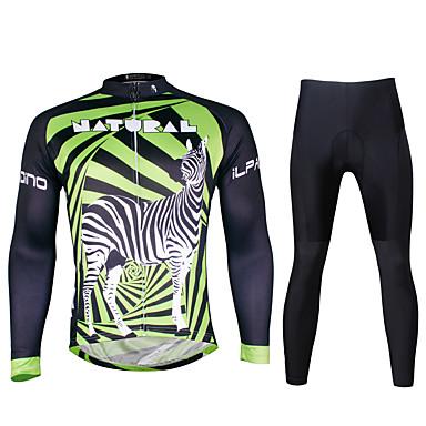 ILPALADINO Pyöräily jersey ja trikoot Miesten Pitkä hiha Pyörä VaatesetitNopea kuivuminen Ultraviolettisäteilyn kestävä Hengittävä