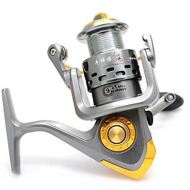 Fishing Reels بكرة دوارة 5.1:1 نسبة أعداد التروس والاسنان+10 الكرة كراسى أيمن / أعسر الصيد البحري / صيد الأسماك في الجليد / صيد الأسماك الغزلي - HF1000/HF2000/HF3000/HF4000/HF5000/HF6000 / باس الصيد