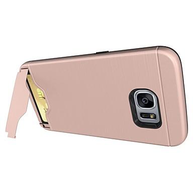 ケース 用途 Samsung Galaxy S8 Plus S8 カードホルダー スタンド付き バックカバー 純色 ハード PC のために S8 Plus S8 S7 edge S7