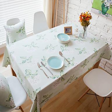 Suorakulma Patterned Table Cloths , Cotton Blend materiaali Hotel ruokapöytä Taulukko Dceoration