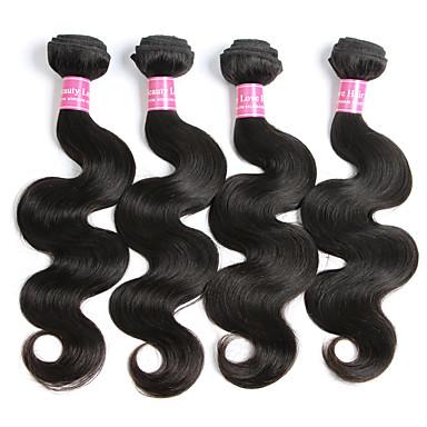 Cabelo Brasileiro Onda de Corpo Tramas de cabelo humano 4 Peças Cabelo Humano Ondulado