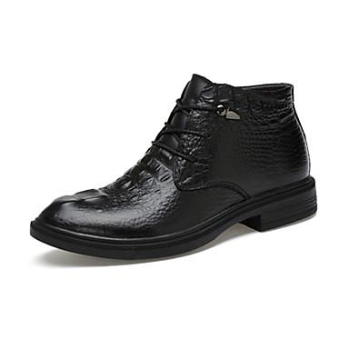 Bootsit-Tasapohja-Miesten-PU-Musta-Rento-Comfort
