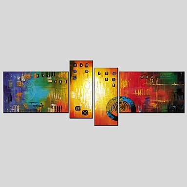 abordables Toiles-Imprimé Impression sur Toile - Abstrait Classique Moderne Quatre Panneaux Art Prints