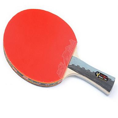 6スター Ping Pang/卓球ラケット Ping Pang ウッド ショートハンドル にきび