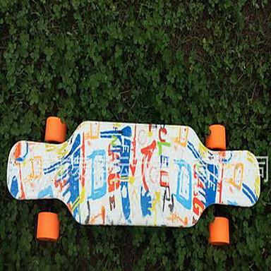 Kinder Standard-Skateboards Weiß Schwarz Blau