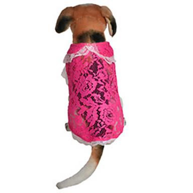 犬 ドレス 犬用ウェア カジュアル/普段着 レース ローズ