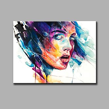 手描きの抽象的な/抽象的な肖像画の油絵、現代の1パネルのキャンバスの油絵