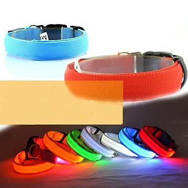 Kutya Gallérok LED fények Állítható / Behúzható Műanyag Sárga Piros Zöld Kék Rózsaszín