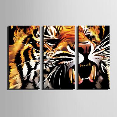 キャンバスセット 動物 Modern,3枚 キャンバス 縦長 版画 壁の装飾 For ホームデコレーション