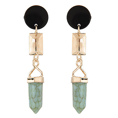 cheap Earrings-Women's Turquoise Drop Earrings European Fashion western style Resin Turquoise Earrings Jewelry Green For Daily