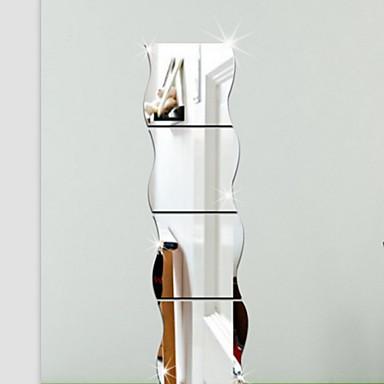 halpa Seinätarrat-Muodot 3D Wall Tarrat Peilitarrat Koriste-seinätarrat, Vinyyli Kodinsisustus Seinätarra Seinä