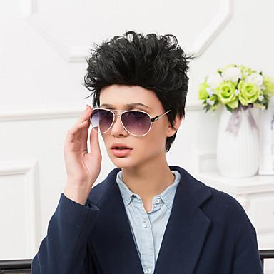 viileä lyhyt capless peruukit luonnollinen suorat hiuksista