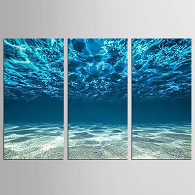 抽象画 風景 近代の 地中海風,3枚 キャンバス 縦式 プリント 壁の装飾 For ホームデコレーション