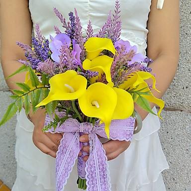 Hochzeitsblumen Freigeformt Rosen Sträuße Hochzeit Partei / Abend Satin ca.25cm