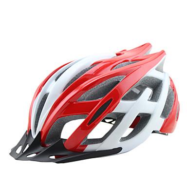 billige Hjelmer-Voksne sykkelhjelm 25 Ventiler EPS PC sport Fjellsykkel Veisykling Sykling / Sykkel - Gul Rød Blå Herre Dame Unisex