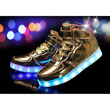 baratos Sapatos de Criança-Para Meninos Couro Ecológico Tênis Little Kids (4-7 anos) Conforto / Tênis com LED Preto / Prateado / Vermelho Inverno / TR