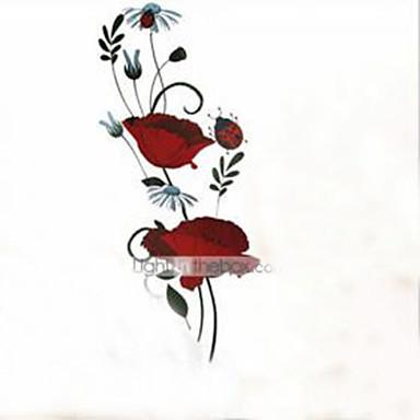 Stillleben Romantik Mode Blumen Botanisch Cartoon Design Wand-Sticker Flugzeug-Wand Sticker Dekorative Wand Sticker Haus Dekoration
