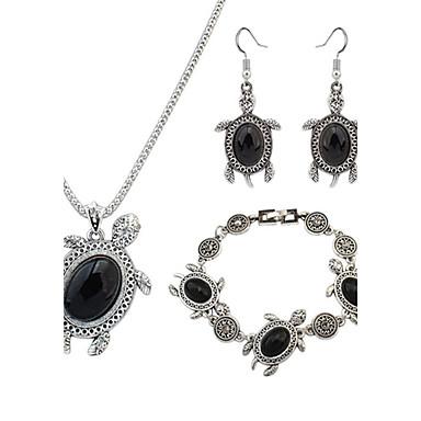 Mulheres Conjunto de jóias - Resina Tartaruga, Animal Europeu, Fashion Incluir Preto / Vermelho / Verde Para Festa Diário