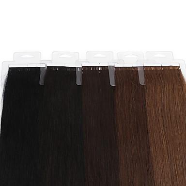 20pcs neitsi 16 polegadas Mechas reta pu extensão do cabelo 30g / pack