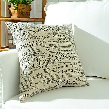 1 個 コットン 枕カバー, フラワー エッフェル塔 レトロ風