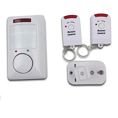 draadloze infrarood motion detectie alarm systeem met twee afstandsbedieningen voor binnenlandse veiligheid